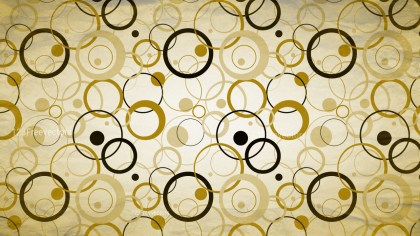 Gold Seamless Circle Pattern Background Image