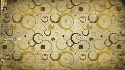 Gold Grunge Seamless Geometric Circle Background Pattern