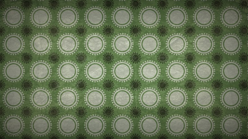 Green and Beige Seamless Circle Pattern Background Image