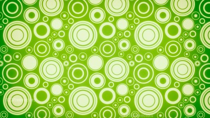 Green and Beige Seamless Geometric Circle Background Pattern Image