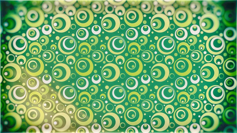 Green and Beige Geometric Circle Background Pattern Image