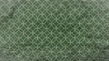 Green and Beige Grunge Geometric Circle Background Pattern