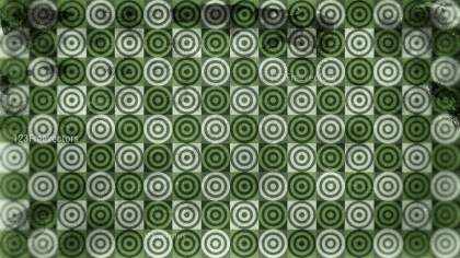 Green and Beige Grunge Geometric Circle Pattern Background Design