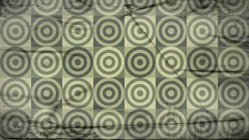 Green and Beige Grunge Seamless Circle Background Pattern Graphic