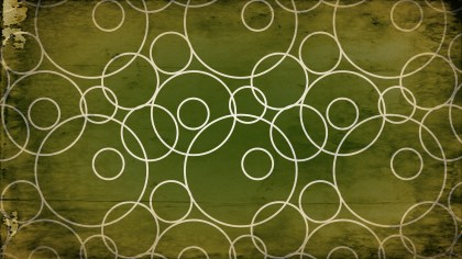 Green and Beige Grunge Seamless Geometric Circle Background Pattern Image