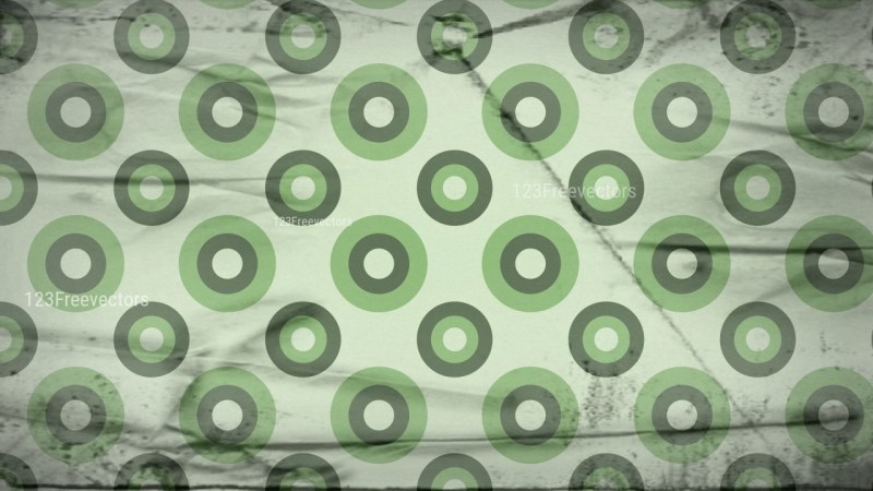 Green and Beige Grunge Circle Pattern Wallpaper