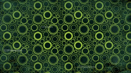 Green and Black Geometric Circle Background Pattern Image