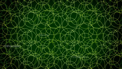 Green and Black Seamless Geometric Circle Background Pattern Image