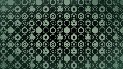 Green and Black Seamless Geometric Circle Pattern Background Image