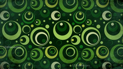 Green and Black Seamless Circle Background Pattern Image