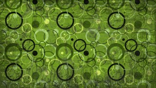 Green and Black Grunge Circle Background Pattern