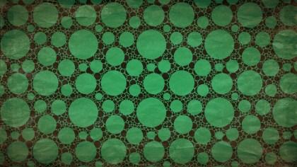 Green and Black Grunge Seamless Circle Pattern Background