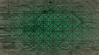 Green and Black Circle Grunge Background Pattern Design