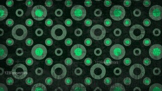 Green and Black Seamless Circle Grunge Background Pattern