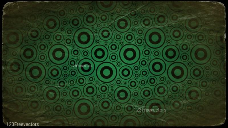 Green and Black Grunge Seamless Geometric Circle Background Pattern