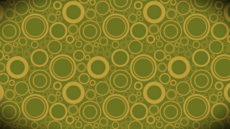 Green and Gold Seamless Geometric Circle Pattern Background Image