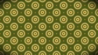 Green and Gold Seamless Circle Background Pattern Image
