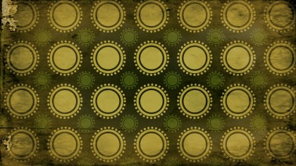Green and Gold Grunge Circle Pattern Background Graphic