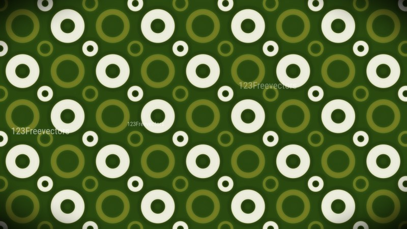 Green and White Seamless Geometric Circle Pattern Background Image