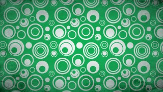 Green and White Circle Background Pattern Image