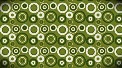 Green and White Seamless Circle Pattern Background Image
