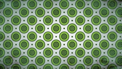 Green and White Geometric Circle Pattern Background Image