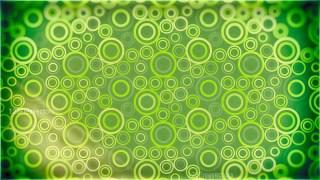 Green and Yellow Seamless Geometric Circle Pattern Background Image