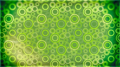 Green and Yellow Seamless Geometric Circle Pattern Background Image