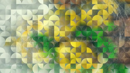 Green Yellow and Brown Abstract Quarter Circles Background