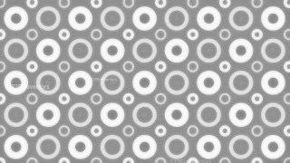 Grey and White Seamless Circle Background Pattern Image
