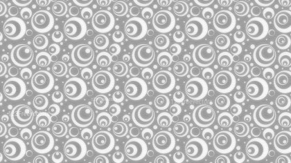 Grey and White Seamless Geometric Circle Background Pattern Image