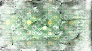 Grey Green and Yellow Seamless Circle Grunge Pattern Background Graphic