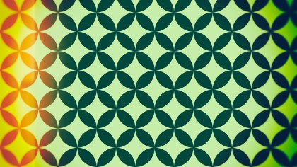 Orange and Green Circle Pattern Background Image