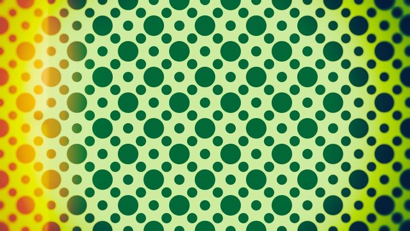 Orange and Green Seamless Circle Pattern Background Image