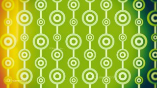 Orange and Green Circle Background Pattern Image