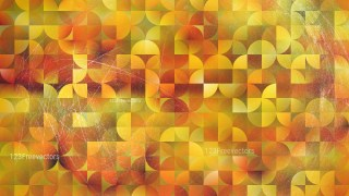 Abstract Orange and Yellow Quarter Circles Background