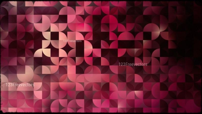 Abstract Pink and Black Quarter Circles Background Image