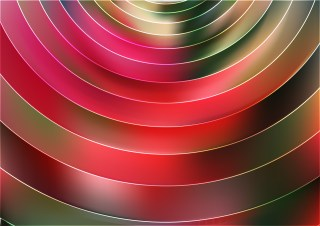 Pink Red and Green Abstract Circle Background Vector Art