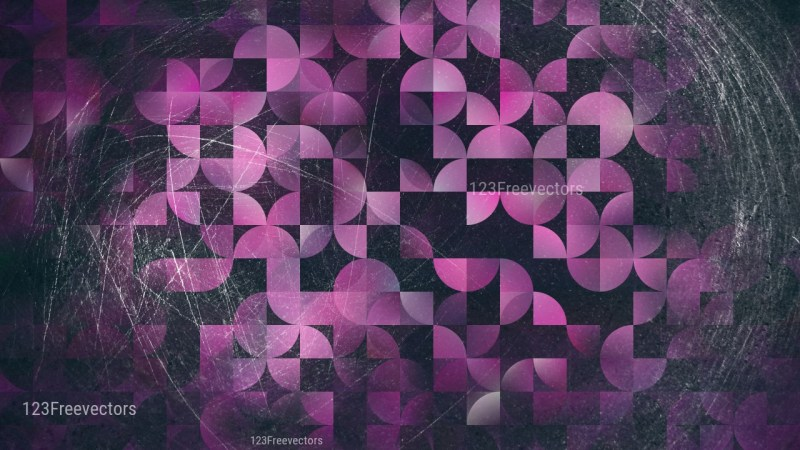 Abstract Purple and Black Quarter Circles Background