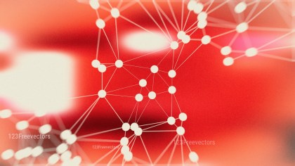 Connecting Dots and Lines Beige and Red Blur Background