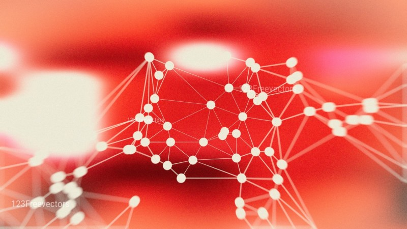 Connecting Dots and Lines Beige and Red Blur Background Design