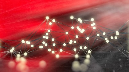 Connecting Dots and Lines Beige Red and Black Blur Background