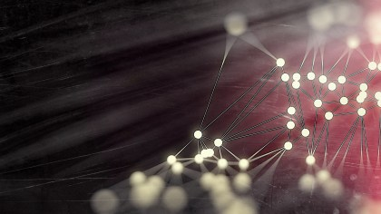 Connecting Dots and Lines Beige Red and Black Blur Background Design