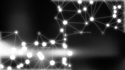 Black Blurred Connected Lines and Dots Background Image