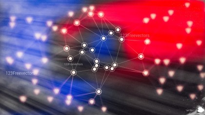 Connecting Dots and Lines Black Red and Blue Blur Background