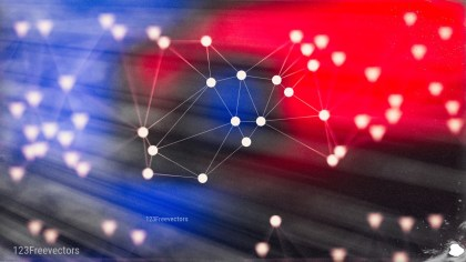 Connecting Dots and Lines Black Red and Blue Blur Background Graphic