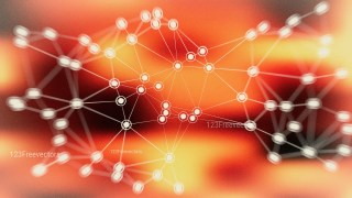 Black Red and Yellow Connected Lines and Dots Blur Background Image