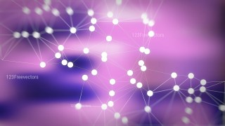 Connecting Dots and Lines Blue and Purple Blur Background
