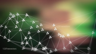 Connecting Dots and Lines Green Brown and Black Blurred Background