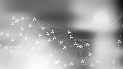 Connecting Dots and Lines Grey Blurred Background Image
